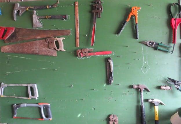 Blackboard Tool Wall